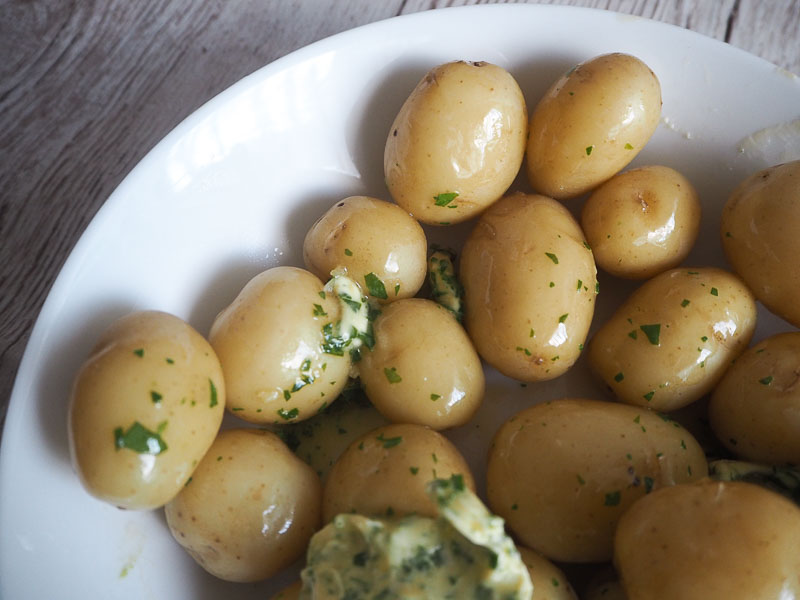 Jersey Royals with Garlic Herb Butter