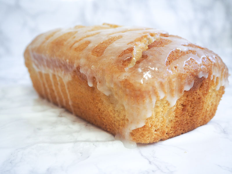 Vegan lemon drizzle cake recipe, food blogger, foodie for thought