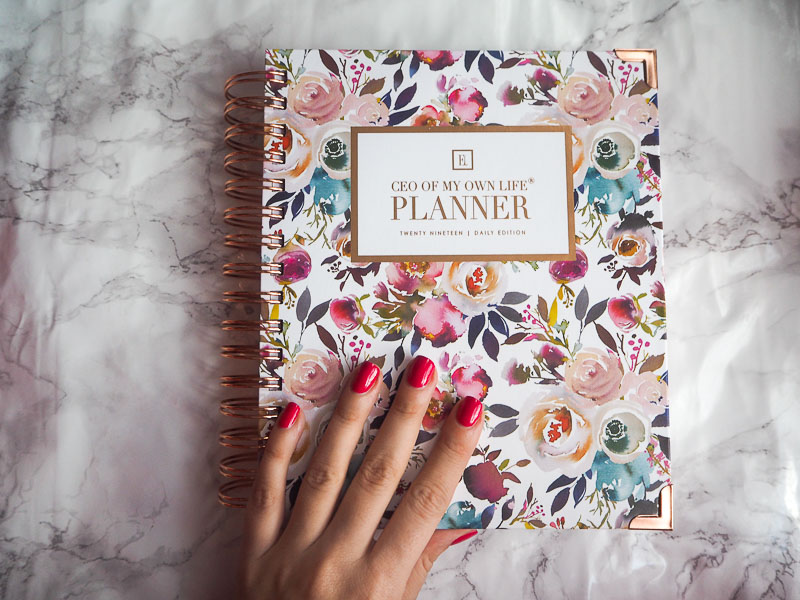 Ella Iconic CEO Of My Own Life Planner 2019, Planner, Blogger, Foodie for Thought, Review